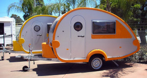 RV Insurance Quote - Teardrop Trailers in Orange and yellow