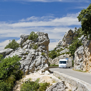 RV Insurance - RV driving scenic road