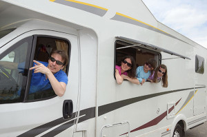 RV Insurance Policy - Family driving in RV