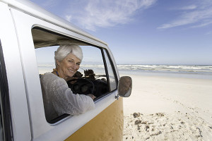 RV insurance Quotes - Woman in campervan