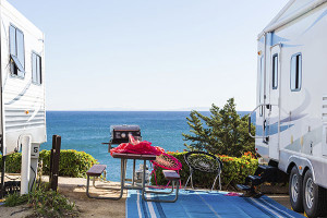 RV insurance Quotes - RV parked by beach