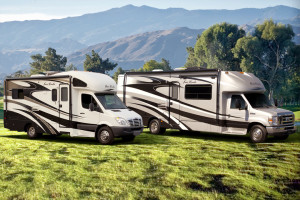 RV Insurance cost - Brand new RVs parked together