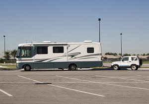 Motorhome Insurance - RV in empty lot