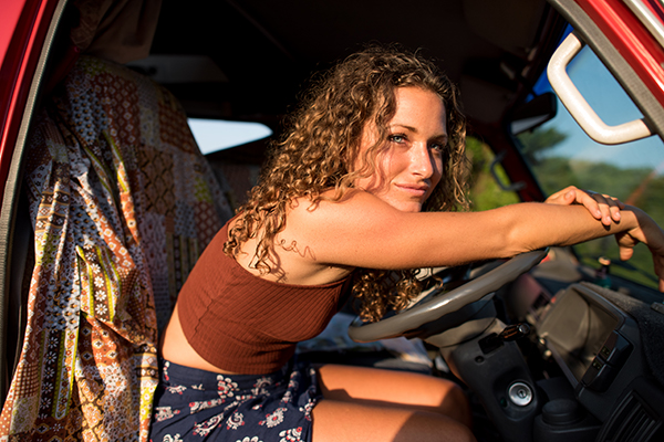 woman RVing solo