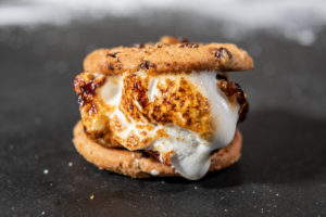 chocolate chip cookie smore campfire recipe