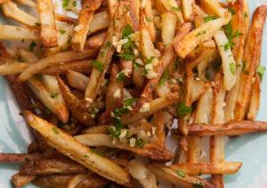 cheesy garlic fries campfire recipes