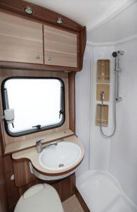 cleaning RV bathroom
