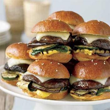 Mini Portobello Mushroom Veggie Burgers