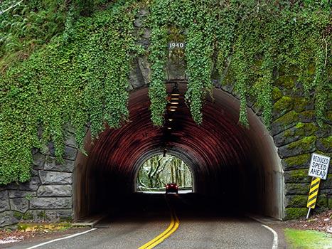 Entrance of Bridge Tunnel