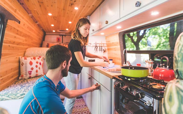 cooking food in rv