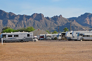 Outdoor RV storage facility