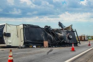 rv overturned on highway