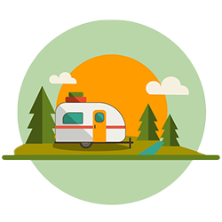 travel trailer icon - apps